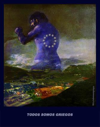 El gigante, el coloso,el pánico y la Tormenta de Goya