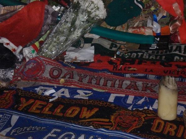 homenaje de aficionados del clubs de futbol