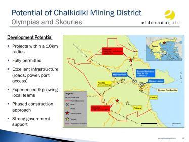 Impacto en la zona por la minería de oro a cielo abierto y sus infraestructuras