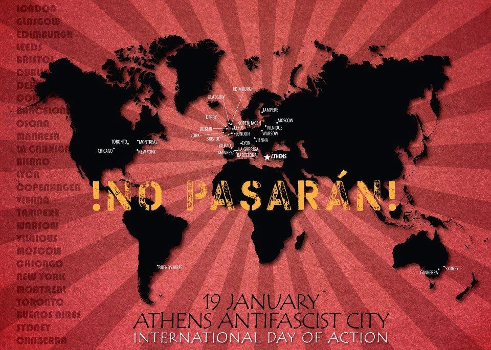 Atenas Antifascista. 19 Enero día internacional