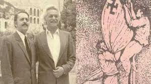 30 de mayo 1941, con 18 años, junto con su amigo Apostolos descolgó  la bandera nazi del acrópolis  en Atenas .Un acto de resistencia muy simbólico. Fue detenido variias veces por los nazis.Más tarde los alemanes lo atraparon y torturaron pero, antes de que pudiesen fusilarlo (como sí harían con su hermano), logró escapar.