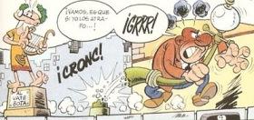 Mortadelo y Filemón por Ibañez (Disfraz de estatua)