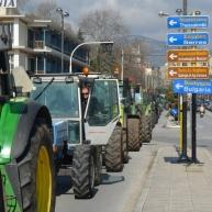 Los agricultores que llevan días de protestas se incorporaron a las protestas