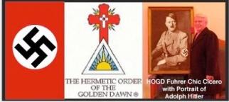 """Golden Dawn es una secta hermética que popularizó el  esotérico Aleister Crowley, por quien Hitler tenía fascinación. el también buscó """"un renacimiento espiritual"""""""