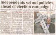 """Seamus se había presentado como candidato independiente. """"Crucificados por el Banco de Escocia"""""""