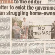 Mejor desalojar al gobierno que forcejear a los propietarios de sus casas