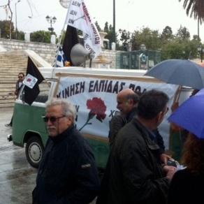 El movimiento de esperanza ciudadana frente al parlamento en Atenas.