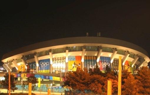Estadio de la Paz y la Amistad en Atenas.  Desde 1992 es la cancha oficial de juego del Olympiacos.